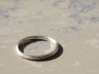 つや消し シルバープレーンリング 1.8mm幅 マット シルバー950 シルバーリング 指輪 シンプル ハンドメイド 119の画像