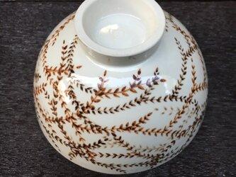 ご飯茶碗 ブラウン蔦の画像