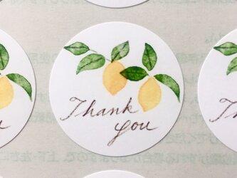 レモンのサンキューシールの画像