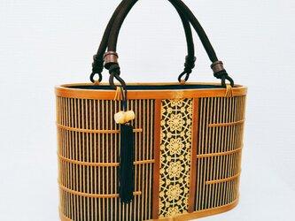 「バッグ」駿河竹千筋細工 茶の画像