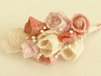 こうぞ和紙 コサージュ ピンクの画像
