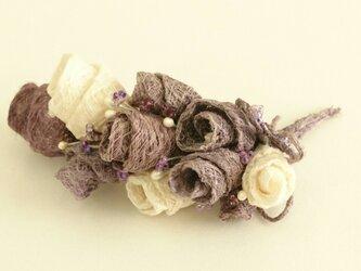 こうぞ和紙 コサージュ 紫の画像