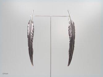 風切り羽根のピアス シルバー(Windbreaker Pierce)の画像
