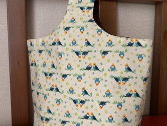 ワンハンドルトートバッグ(インコ)の画像