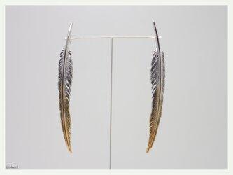 風切り羽根のピアス グラデーション(Windbreaker Pierce)の画像