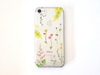 明るい花たちのiPhoneクリアケースの画像