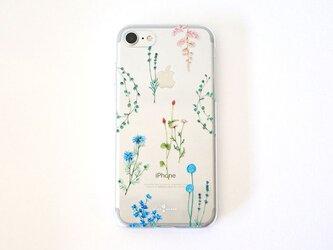 クールな花たちのiPhoneクリアケースの画像