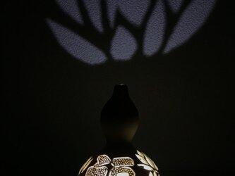 せんなりひょうたんランプ 中国剪紙(せんし)風モチーフ 福蓮華の画像
