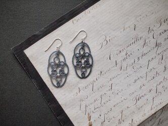 タティングレース silver925  oval tart (オーバル タルト) gray  受注制作の画像