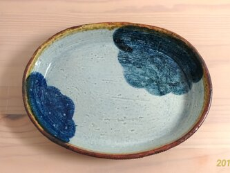 雲の楕円鉢の画像