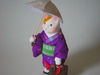 縮緬福猫 日傘 その三十一の画像