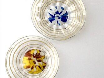 箔ライン皿/ガラス平皿/器の画像