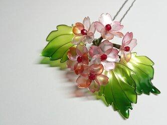 桜の髪飾りの画像