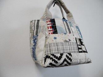 パッチワークの台形バッグ 4の画像