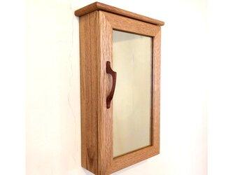 ミラーボックス 鏡付き壁面小物入れの画像
