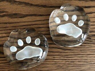 ネコの肉球ペーパーウェイト(特大)受注製作の画像