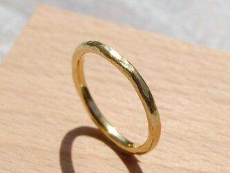でこぼこ ブラスプレーンリング 2.0mm幅 鎚目 真鍮 BRASS RING 指輪 シンプル アクセサリー 143の画像
