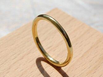 鏡面 ブラスプレーンリング 2.0mm幅 ミラー 真鍮 BRASS RING 指輪 シンプル アクセサリー 141の画像