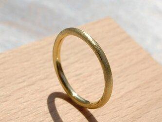 つや消し ブラスプレーンリング 2.0mm幅 マット 真鍮 BRASS RING 指輪 シンプル アクセサリー 142の画像