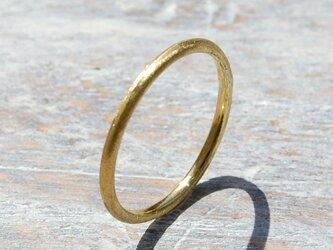 つや消し ブラスプレーンリング 1.5mm幅 マット 真鍮 BRASS RING 指輪 シンプル アクセサリー 139の画像