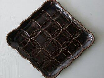 綾series/綾果(ayaka)皿 Lsize (chocolate)の画像