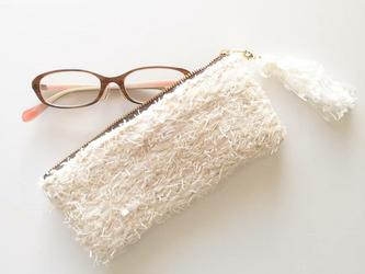 『snowiing』 めがねポーチ 手織り コスメ の画像