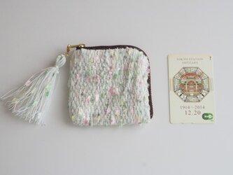 savon カードポーチ 手織り コスメ コイン の画像