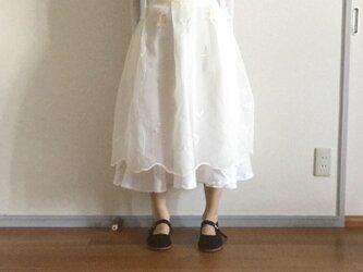 【受注制作:S〜Mサイズ対応】背が低い人のためのエプロンスカートの画像