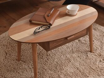 Oval/ Nordic Low Drawer Tableの画像