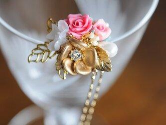 フラワービーズのかんざし 薔薇 の画像