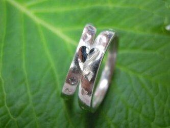 ハンドメイド結婚指輪☆粗仕上げ甲丸&桜の限定打ち出しの画像