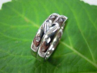 ハンドメイド結婚指輪☆桜の限定打ち出し&甲丸・ハートの画像