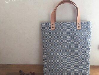 bag[手織り手提げバッグ]サックスブルーの画像