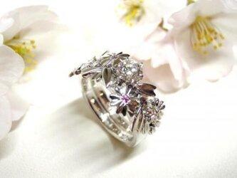 超激レア&限定製造【桜モチーフ☆結婚指輪&婚約指輪】の画像