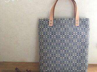 bag[手織り手提げバッグ]ダークブルーの画像