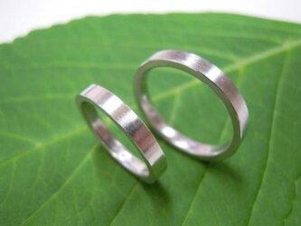 ハンドメイド結婚指輪☆粗仕上げ&シンプルな平内の画像