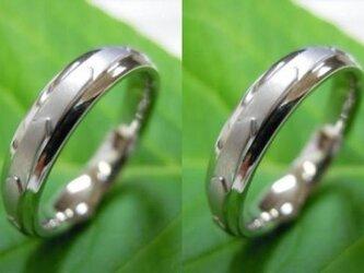 ハンドメイド結婚指輪☆ドラゴン・竜&龍のウロコをイメージの画像