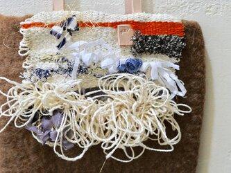 手織りコラージュミニバッグ 【サンドベージュ】の画像