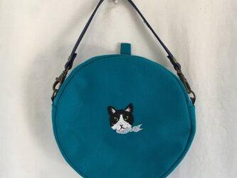 丸バッグ 猫の画像