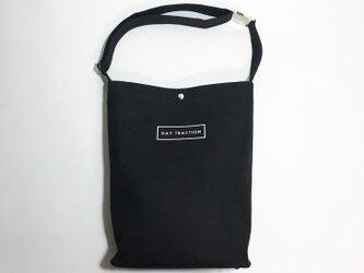minimal plus (Black) / 帆布のショルダートートバッグ(ブラック)の画像