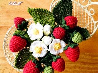 苺のコサージュ・ワイルドストロベリーの画像
