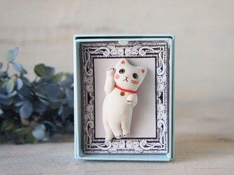 【陶器の小さな招き猫】福アクセサリーbの画像