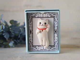 【陶器の小さな招き猫】福アクセサリーaの画像