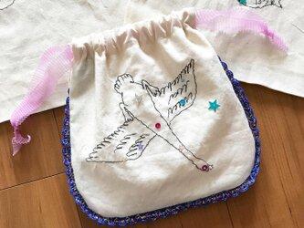 白鳥座の巾着ポーチの画像