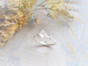 Only One!Water spiritual SV925 Ring -33- /ハーキマーダイヤモンドの画像