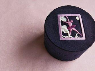 リネンラウンドボックス小「バレリーヌ」の画像