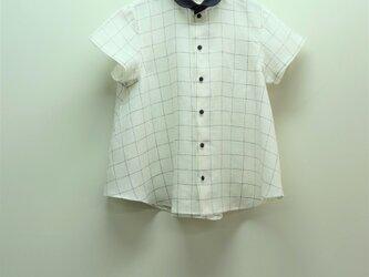 ハードマンズリネン フレアーシャツ(ウィンドペン ホワイト)の画像