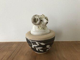 カノプス壺 羊の画像