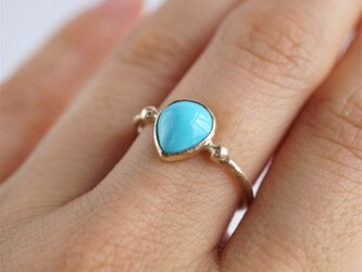 Sleeping beauty turquoise ring [OP727K10YG]の画像