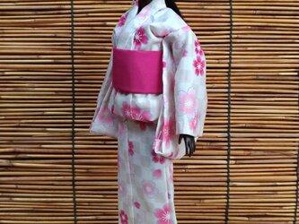 バービー浴衣 ほんのり桜市松の画像